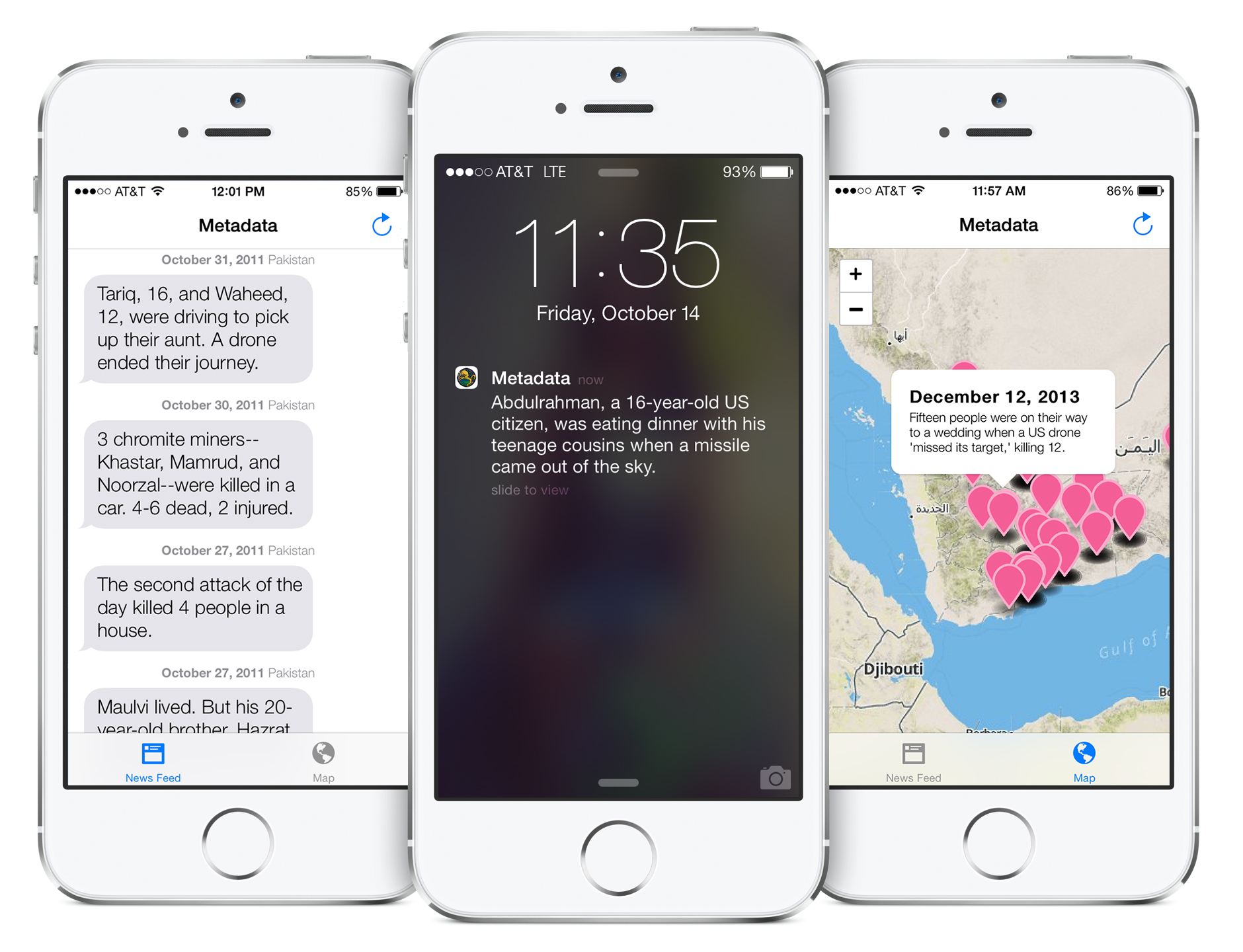 Metadata: An iPhone app by Josh Begley