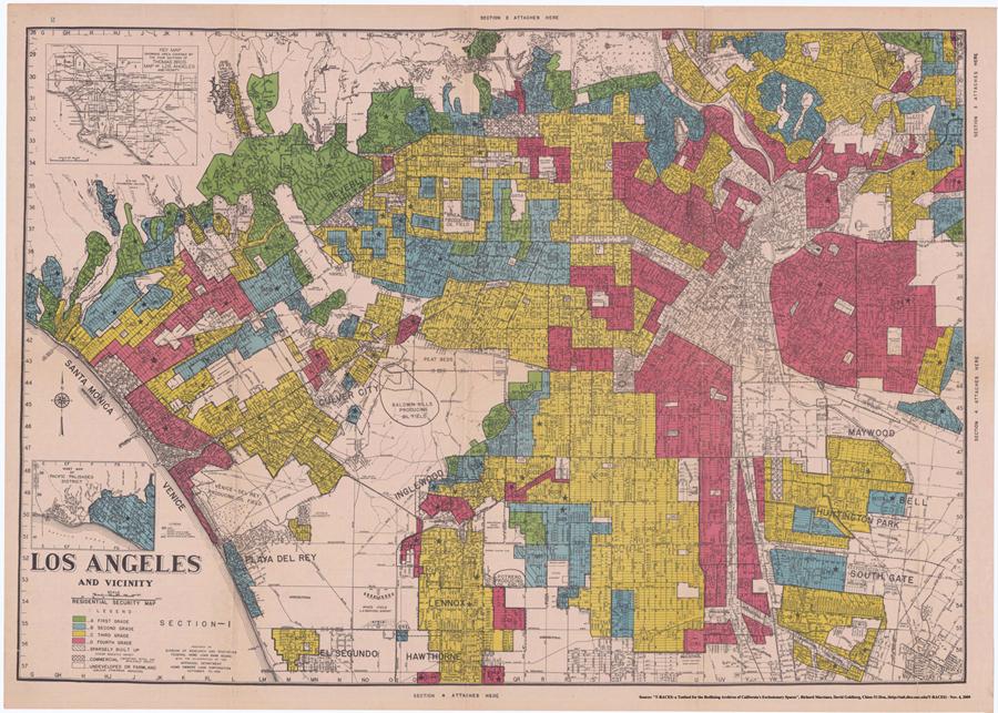Redlining Los Angeles 1936 1939