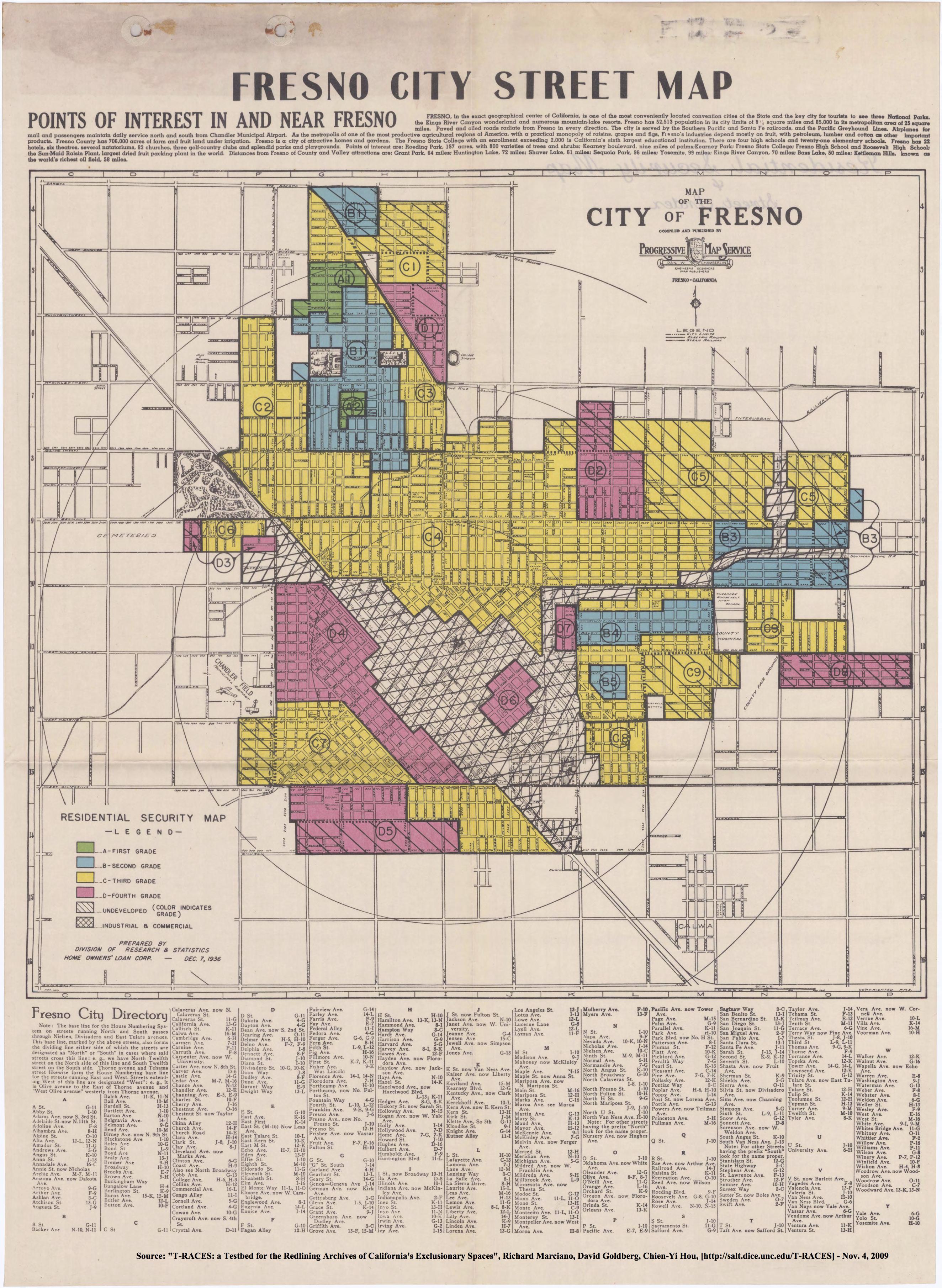 Redlining Fresno 19361939