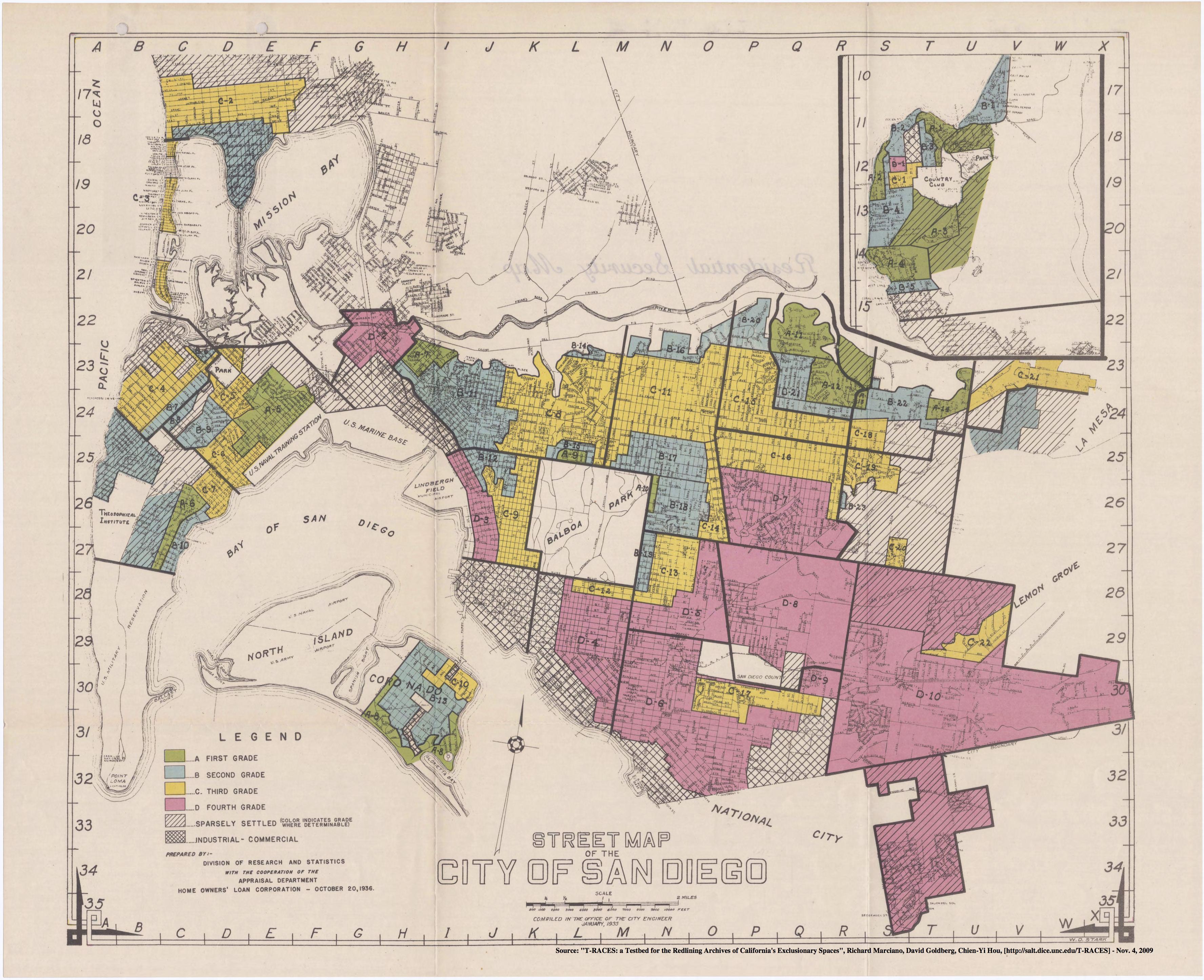 Redlining San Diego, 1936-1939