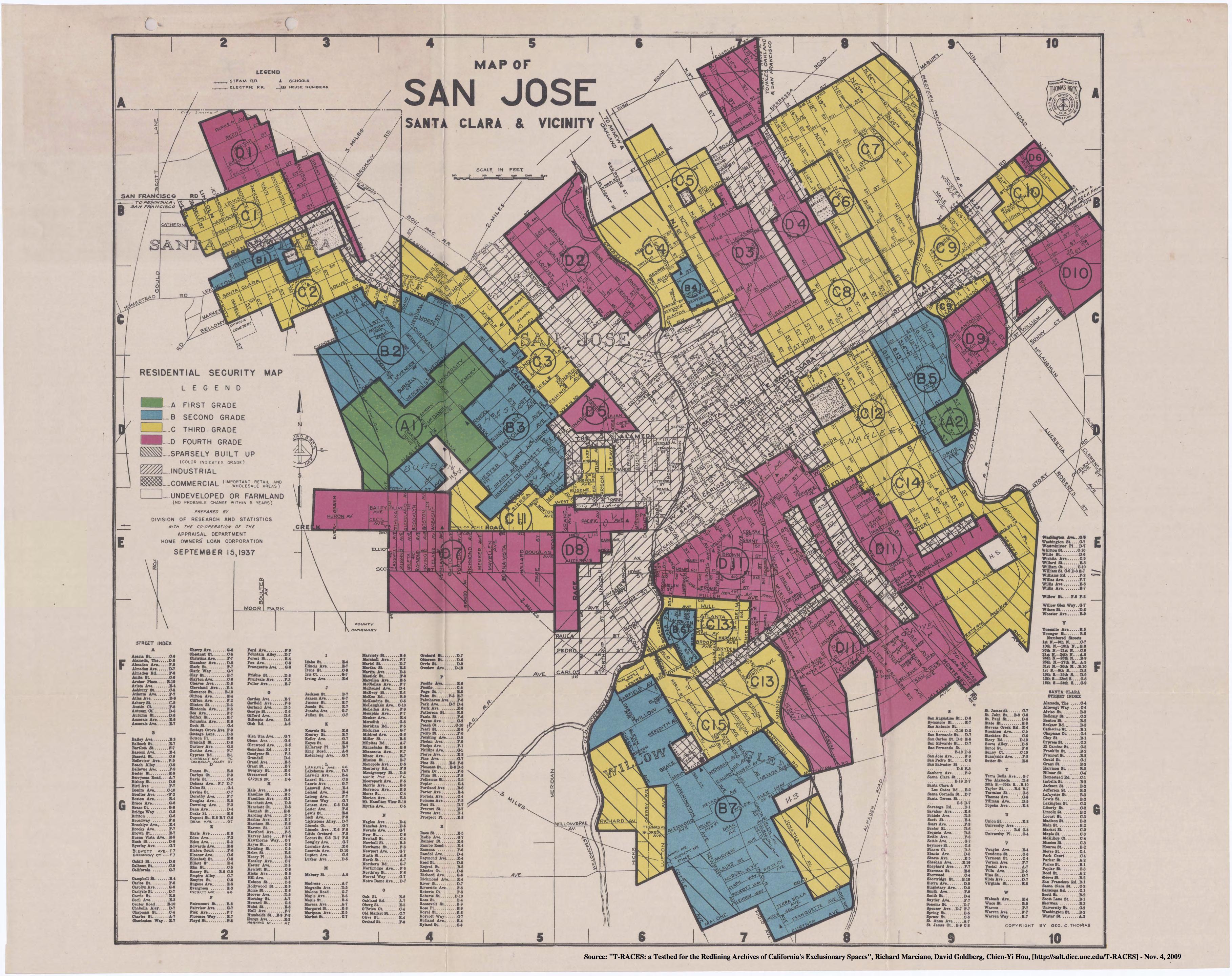 Redlining San Jose, 1936-1939