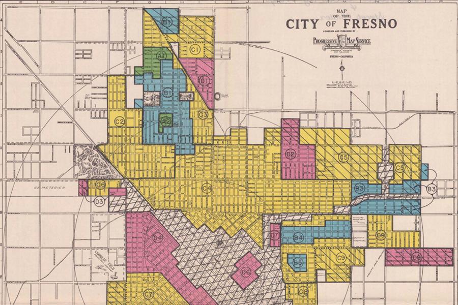 Redlining Fresno, 1936-1939 on